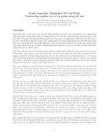 Di dời cảng biển Thành phố Hồ Chí Minh: Tình huống nghiên cứu về sự phân mảng thể chế