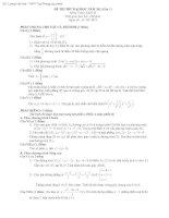 Tài liệu ĐỀ THI THỬ ĐẠI HỌC NĂM 2011 môn toán Khối: D - THPT Tuy Phong docx