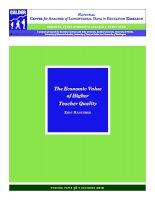 Tài liệu The Economic Value of Higher Teacher Quality pdf
