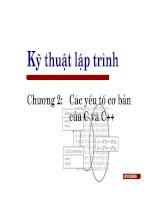 Tài liệu Kỹ thuật lập trình - Chương 2: Các yếu tố cơ bản của C và C++ pdf