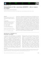 Tài liệu Báo cáo khoa học: Upregulation of the a-secretase ADAM10 – risk or reason for hope? docx