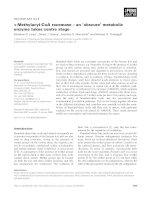 Tài liệu Báo cáo khoa học: a-Methylacyl-CoA racemase – an 'obscure' metabolic enzyme takes centre stage pptx