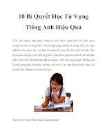 Tài liệu 10 Bí Quyết Học Từ Vựng Tiếng Anh Hiệu Quả pptx