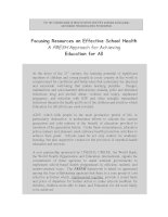 Tài liệu Focusing Resources on Effective School Health: A FRESH Approach for Achieving Education for All doc
