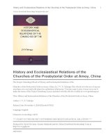 Tài liệu History and Ecclesiastical Relations of the Churches of the Presbyterial Order at Amoy, China doc