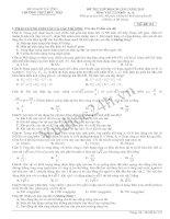 Tài liệu Đề Thi Thử Đại Học Khối A Vật Lý 2013 Trường Đức Thọ docx
