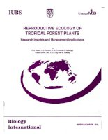 Tài liệu REPRODUCTIVE ECOLOGY OF TROPICAL FOREST PLANTS pdf