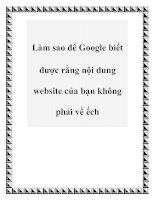 Tài liệu Làm sao để Google biết được rằng nội dung website của bạn không phải về ếch pptx