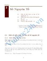 Tài liệu Chuyên đề: số nguyên tố potx