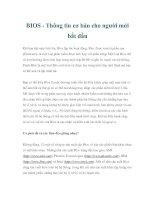 Tài liệu BIOS - Thông tin cơ bản cho người mới bắt đầu docx