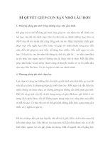 Tài liệu BÍ QUYẾT GIÚP CON BẠN NHỚ LÂU HƠN ppt
