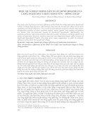 Tài liệu HIỆU QUẢ HOẠT ĐỘNG SẢN XUẤT KINH DOANH CỦA LÀNG NGHỀ DỆT CHIẾU ĐỊNH YÊN – ĐỒNG THÁP doc