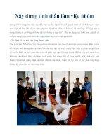 Tài liệu Xây dựng tinh thần làm việc nhóm pot