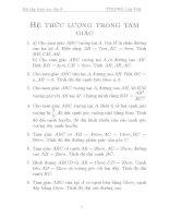 Bài tập hình học lớp 9   hệ thức lượng trong tam giác