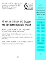 Tài liệu Air pollution during the 2003 European heat wave as seen by MOZAIC airliners ppt