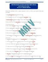 Phương pháp làm bài tập chữa lỗi sai môn Tiếng Anh