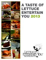 Tài liệu A TASTE OF LETTUCE ENTERTAIN YOU 2013 pdf