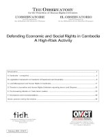 Tài liệu Defending Economic and Social Rights in Cambodia A High-Risk Activity pdf