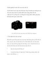 Tài liệu 9 kinh nghiệm trước khi mua máy ảnh số doc