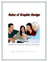 Tài liệu RULES OF GRAPHIC DESIGN GUIDE FOR FAMILY HISTORY PROJECTS ppt