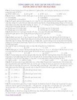70 bài tập di truyền học hay và khó
