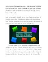 Tài liệu Học tiếng anh để trở nên thân thiện và tự tin trong giao tiếp pdf