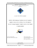 Tài liệu Luận văn:Phân tích hoạt động xuất khẩu thủy sản của Công ty CP XNK thủy sản Caseamex pot