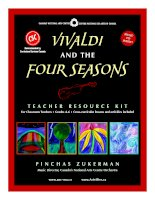 Tài liệu Vivaldi and the Four Seasons TEACHER RESOURCE KIT potx
