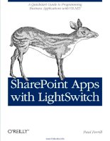 Tài liệu SharePoint Apps with LightSwitch pdf