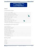 Bài tập danh từ và sở hữu cách