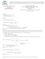 Tài liệu Đề toán tuyển sinh lớp 10 của các tỉnh Đề 32 pot