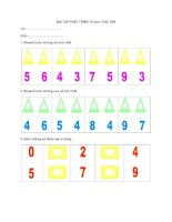 Tài liệu Bài tập phát triển tư duy cho tarẻ pdf