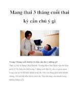 Tài liệu Mang thai 3 tháng cuối thai kỳ cần chú ý gì doc