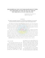 Tài liệu KINH NGHIỆM KHAI THÁC VÀ SỬ DỤNG NGUỒN GEN CÂY TRỒNG CỦA CỘNG ĐỒNG CÁC DÂN TỘC KHU VỰC LÒNG HỒ THỦY ĐIỆN SƠN LA VÀ CÁC VÙNG PHỤ CẬN docx