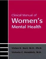 Tài liệu Clinical Manual of Women's Mental Health docx