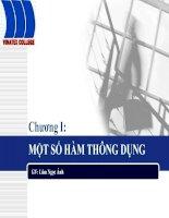Tài liệu Bài giảng tin học ứng dụng: Chương I - Một số hàm thông dụng pptx