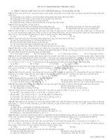 Tài liệu Đề Thi Thử Đại Học Khối A Vật Lý 2013 - Đề 37 docx