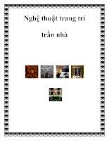 Tài liệu Nghệ thuật trang trí trần nhà pptx