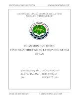 Tài liệu ĐỒ ÁN MÔN HỌC ÔTÔ II: TÍNH TOÁN THIẾT KẾ BỘ LY HỢP CHO XE TẢI 20 TẤN pdf