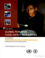 Tài liệu proceedings of the global forum of food safety regulators docx