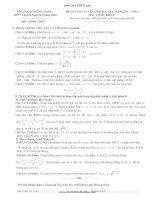 Đề thi thử môn toán - THPT Chuyên Nguyễn Quang Diệu
