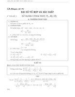 ôn thi đại học toán   chuyên đề tổ hợp và xác suất