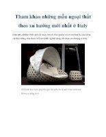 Tài liệu Tham khảo những mẫu ngoại thất theo xu hướng mới nhất ở Italy docx
