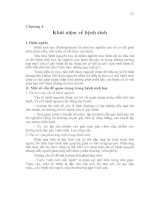 Tài liệu Chương 4 Khái niệm về bệnh sinh doc