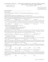 Tài liệu Đề thi - Đáp án môn Vật lí - Tốt nghiệp THPT Giáo dục trung học phổ thông ( 2013 ) Mã đề 872 pptx