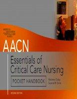 Tài liệu AACN Essentials of Critical Care Nursing—Pocket Handbook doc