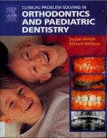 Tài liệu Clinical Problem Solving in Orthodontics and Paediatric Dentistry ppt