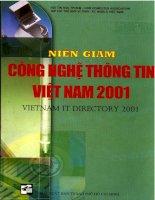 Tài liệu Niên giám công nghệ thông tin Việt Nam năm 2001 doc