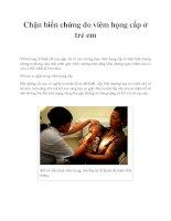 Tài liệu Chặn biến chứng do viêm họng cấp ở trẻ em docx