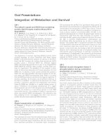 Tài liệu Báo cáo khoa học: Oral Presentations Integration of Metabolism and Survival pdf